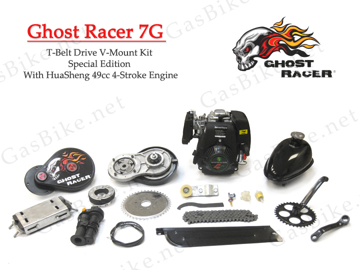 Ghost Racer 7G T-Belt Drive V-Mount Kit Special Edition With HuaSheng 49cc  4-Stroke Engine