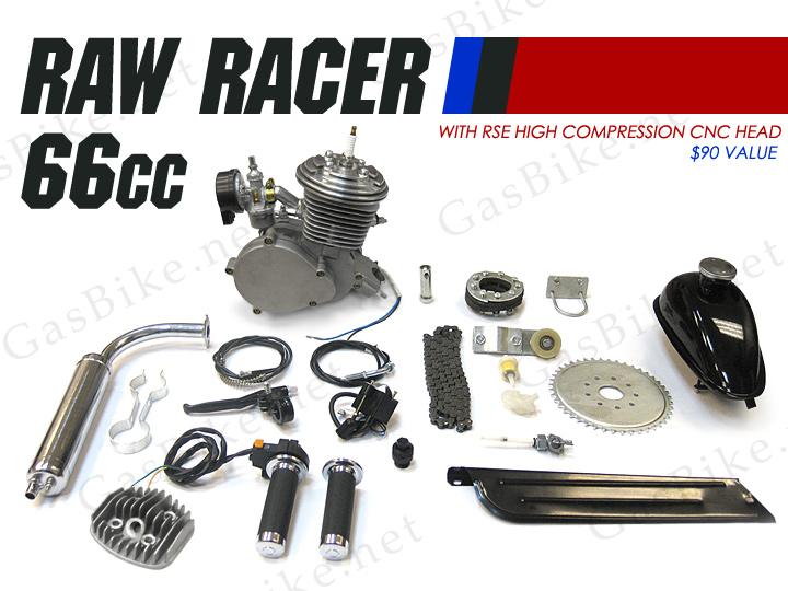 Raw Racer 66cc 80cc Bicycle Engine Kit